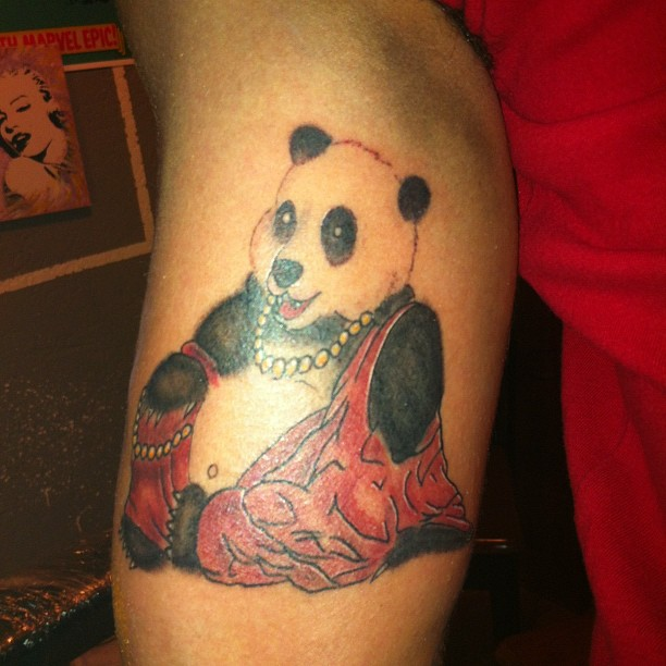 Amazing Holy Panda Tattoo