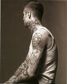 Amazing Neck And Muscles Tattoos