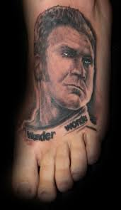 Amazing Sports Man Portrait Tattoo On Foot