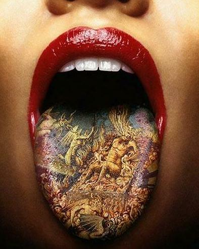 Amazing Tattooed Tongue