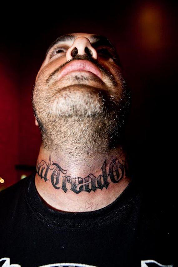 Amazing Words Tattoos On Neck