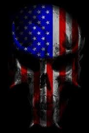 American Flag In Skull Tattoo Design