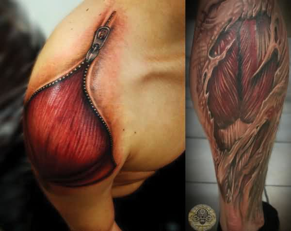 Anatomical Muscles Tissue Tattoos