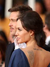 Angelina Jolie's Back Shoulder Tattoo