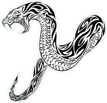 Angry Tribal Snake Tattoo Sticker