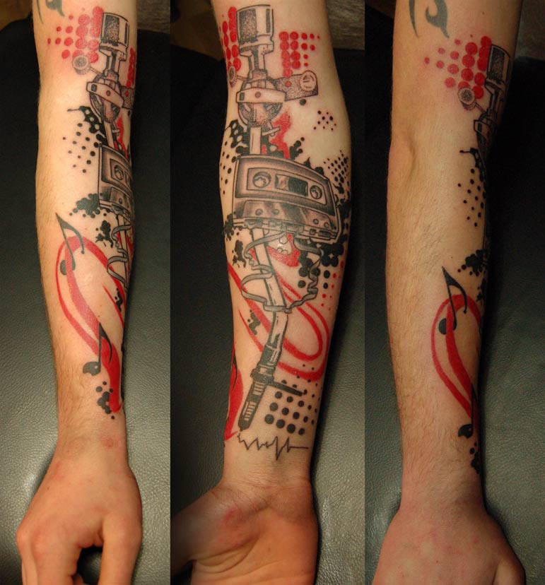 Artistic Music Arm Tattoos