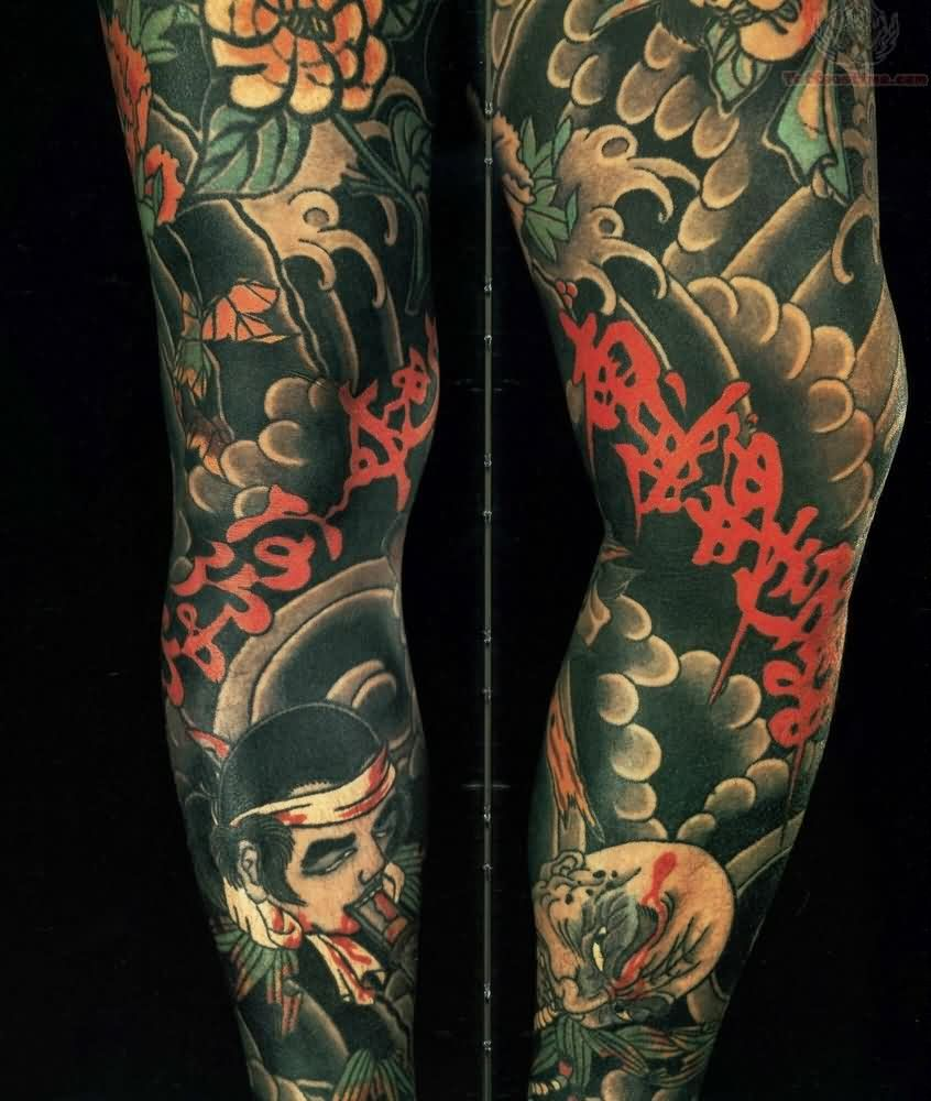 Asian Sleeve Tattoos