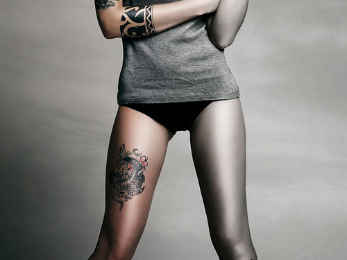 Attractive Thigh Tattoos For Women
