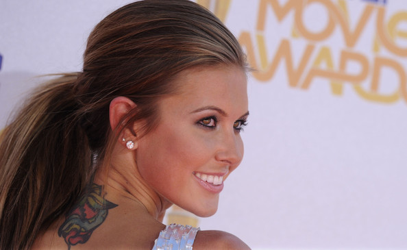 Audrina Patridge's Snake Tattoo On Upperback