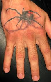 Awesome 3D Spider Tattoo On Hand