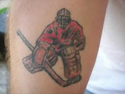 Awesome Hockey Player Tattoo