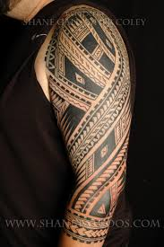 Awesome Polynesian Sleeve Tattoo