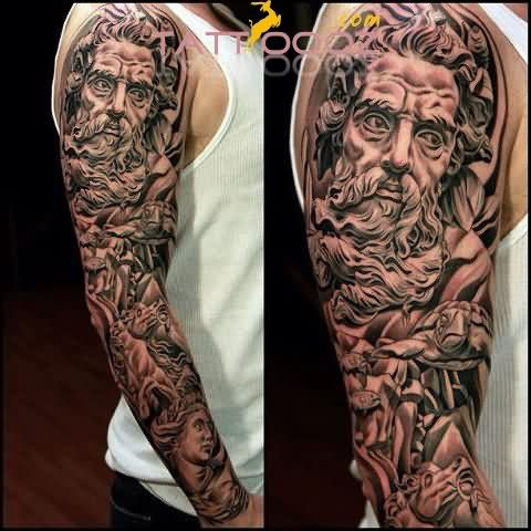 Awesome Realistic Sleeve Tattoos