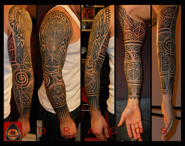 Awesome Right Full Sleeve Tattoos