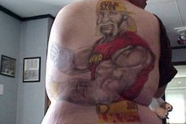 Bad Hulk Hogan Tattoo On Backside