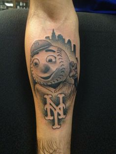 Baseball Mr. Met Tattoo