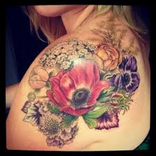 Beautiful Colored Tattoos On Shoulder