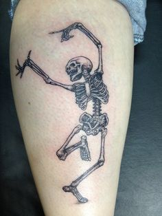 Best Dancing Skeleton Tattoo