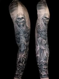 Best Death Tattoo On Sleeve