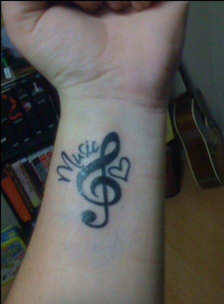 Best Music Tattoo On Inner Wrist