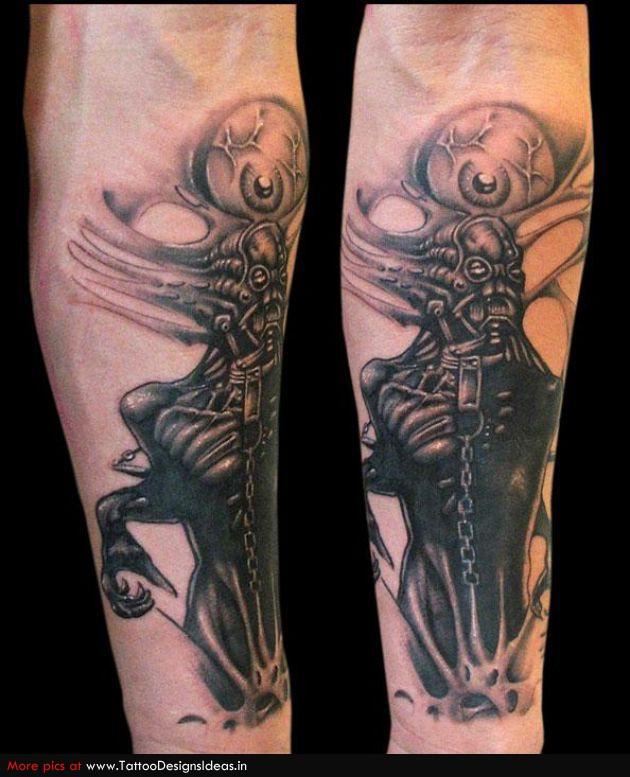 Biomechanical Monster Inspiring Tattoo