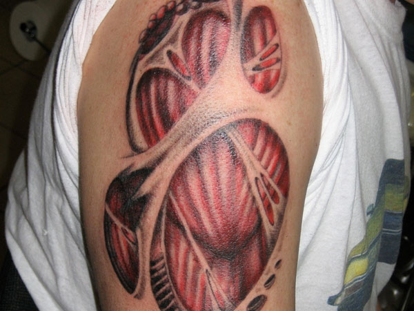 Biomechanical Muscles Tattoo Specially For Men