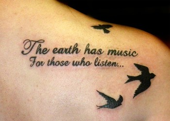 Birds Flying Tattoo On Back Shoulder