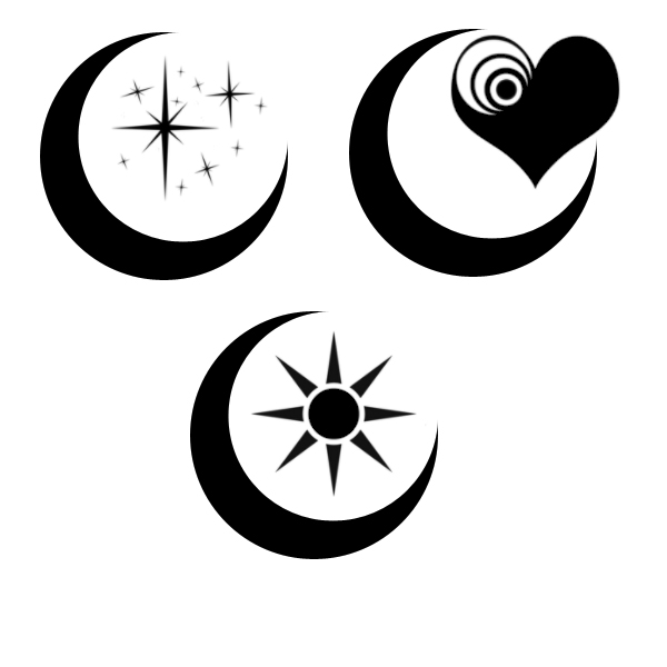 Black Moon Tattoo Designs
