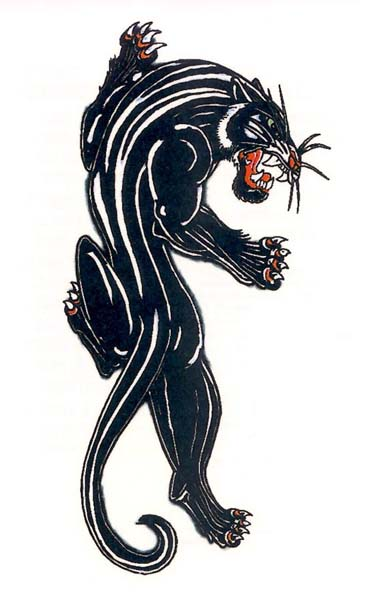 Black Panther Tattoo Design