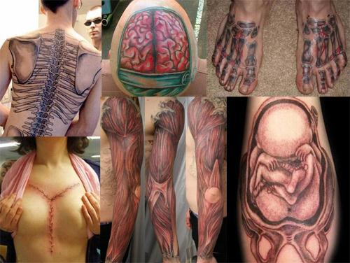 Bones Muscles And Baby Tattoo Images