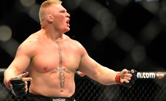 Brock Lesnar Stomach Tattoo
