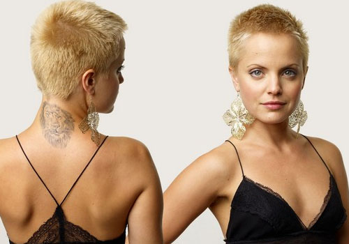 Celebrity Neck Tattoo Photoshoot