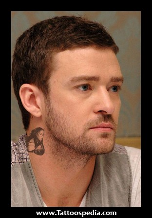 Celebrity Neck Tattoo