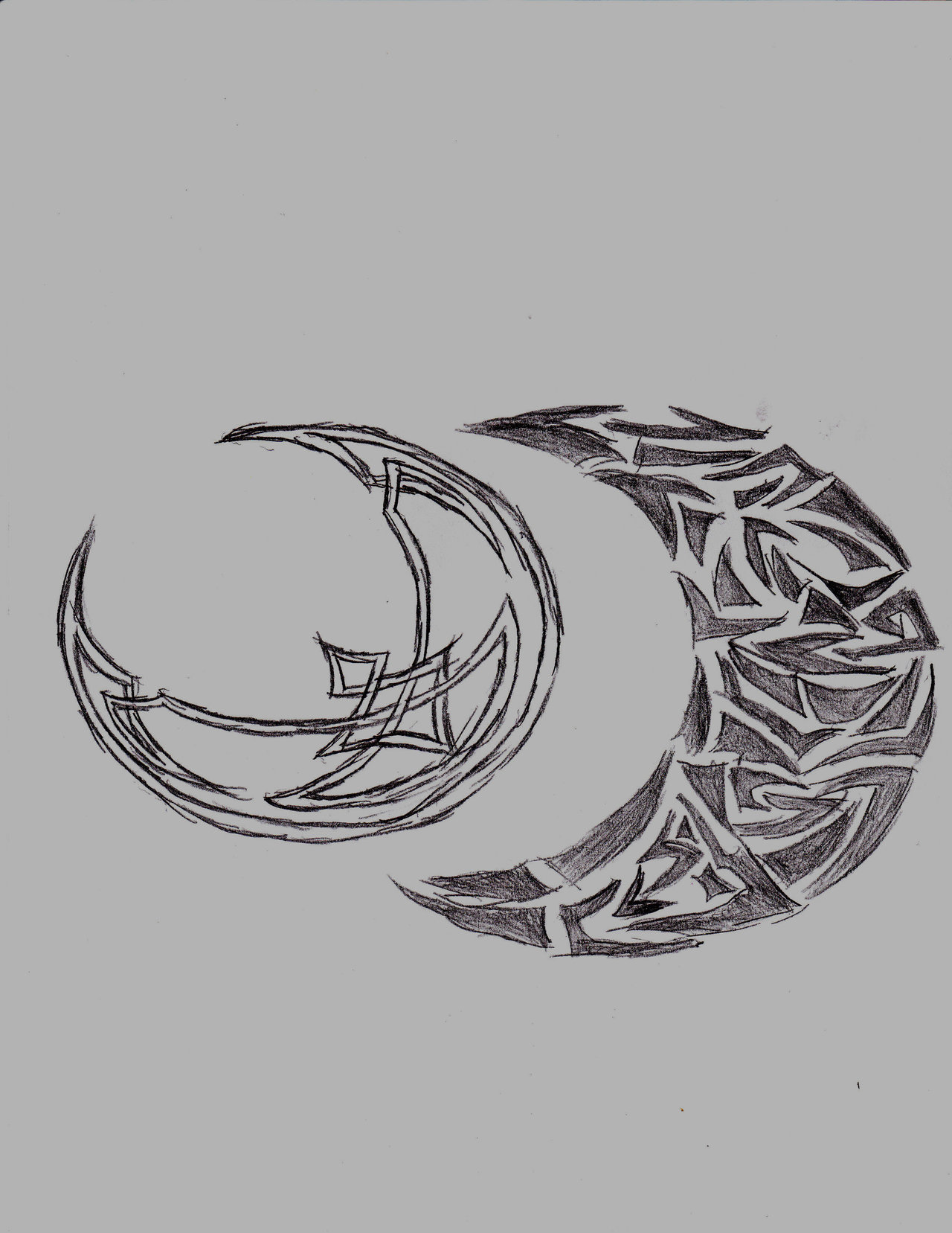 Celtic And Tribal Moon Tattoo Designs