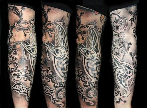 Celtic Animal Tattoo On Sleeve