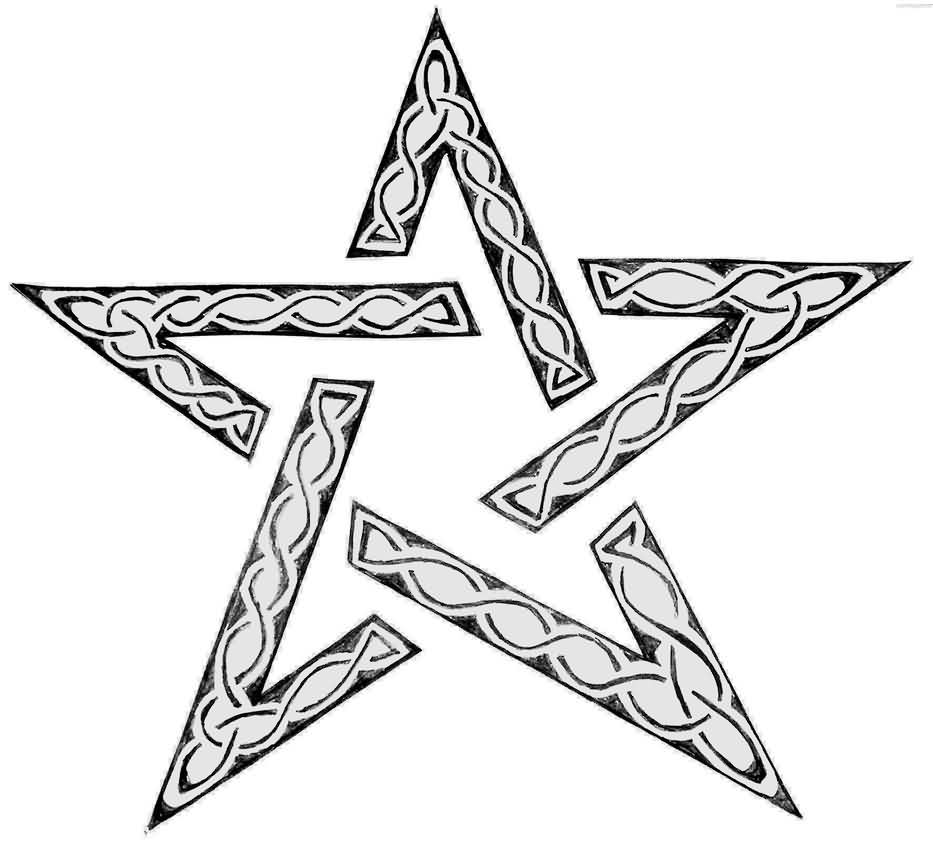 Celtic Style Star Tattoo Design