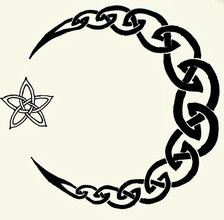 Celtic Symbol And Moon Tattoo Designs