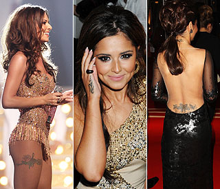 Cheryl Cole Thigh Wrist Tattoos