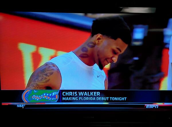 Chris Walker Neck Tattoos