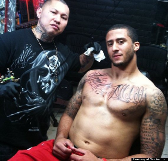 Colin Kaepernick's Tattoos On Chest