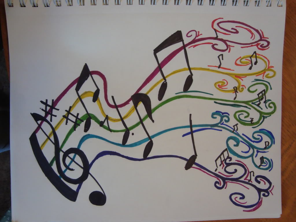 Colorful Music Notes Tattoo Page