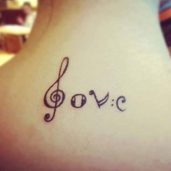 Cool Music Love Tattoo