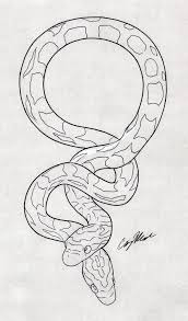 Couple Of Snake Tattoo Design