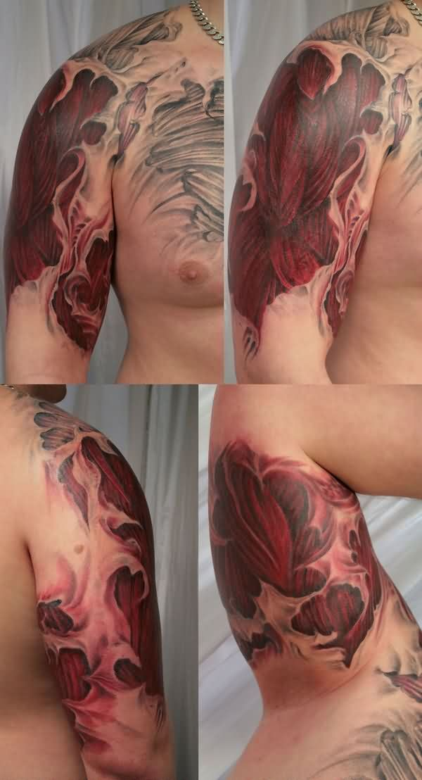 Cover Muscle Sleeve Tattoos