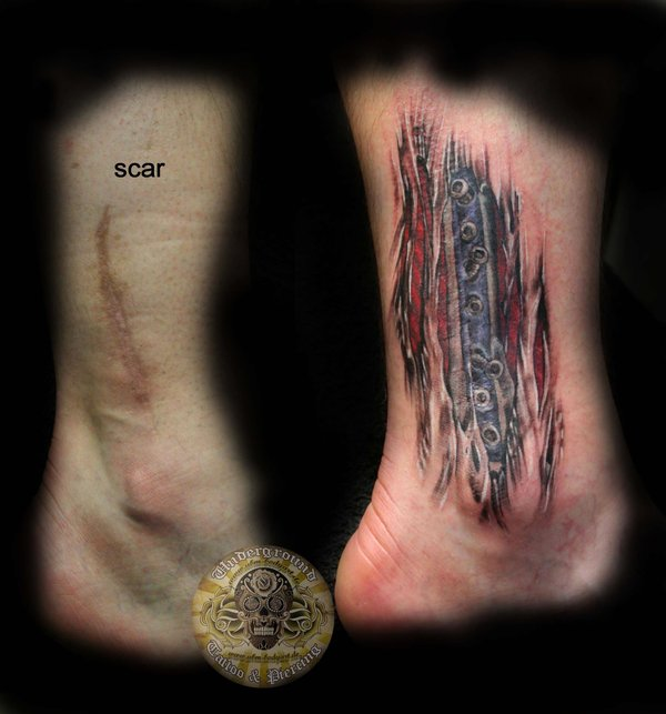 Cover Scar Muscles Tattoos