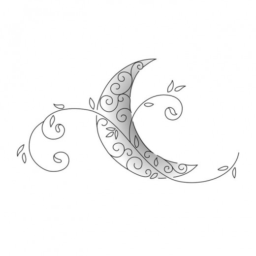 Crescent Moon Tattoo Flash
