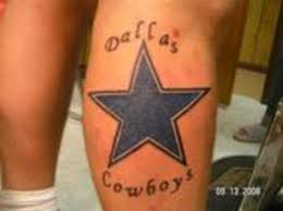 Dallas Cowboys Tattoo On Back Leg