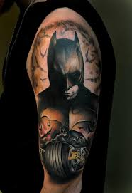 Dark Batman Tattoo On Half Sleeve