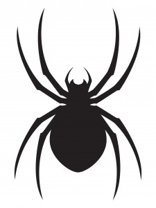 Dark Black Spider Tattoo Stencil