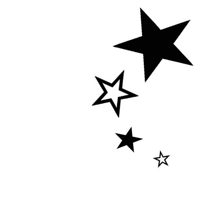 Dark Black Star Tattoo Designs